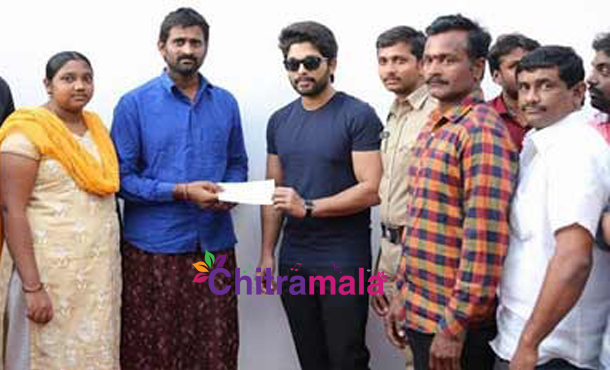 Allu Arjun Help To A Fan