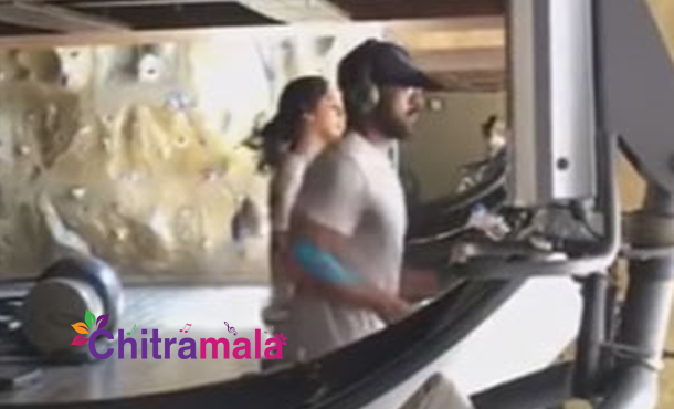 Ram Charan Couple in Gym