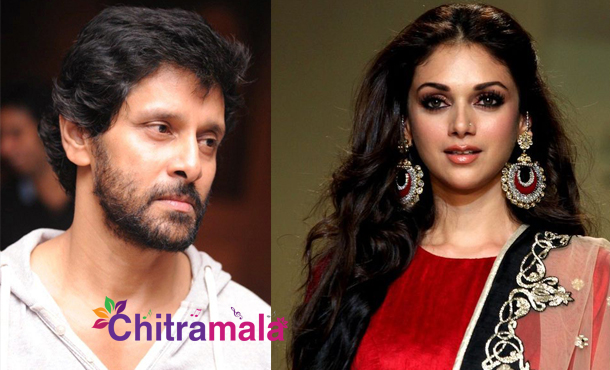 Aditirao with Vikram