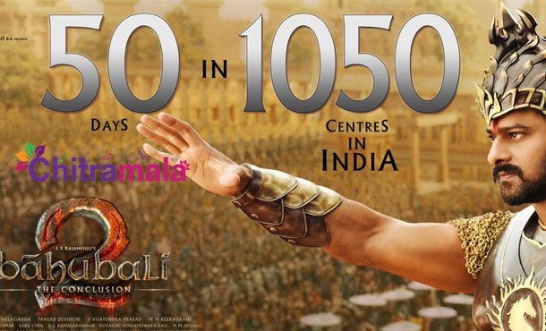 Baahubali-2 completes 50 days in 1050 centers