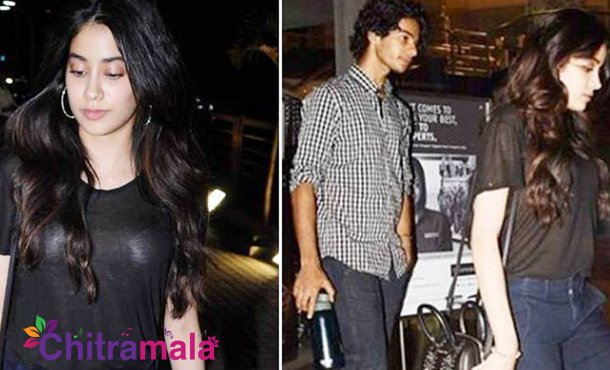 Jhanvi Kapoor spotted with Ishaan