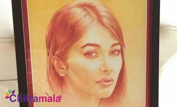 Pooja Hegde-Painting