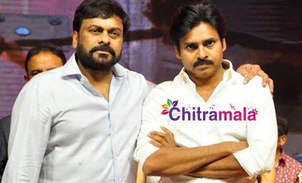 Pawan Kalyan and Chiranjeevi