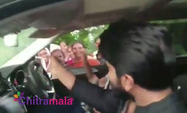 Grand Welcome For Ram Charan