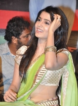 samantha-hot-navel-pics-in-green-saree