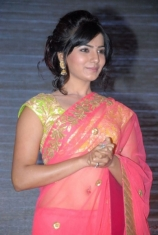 samantha-hot-navel-show-in-pink-saree