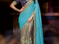 Samantha-Photo-Shoot-in-Blue-Saree