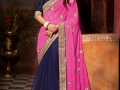 Samantha-Photo-Shoot-in-Blue and Pink-Saree