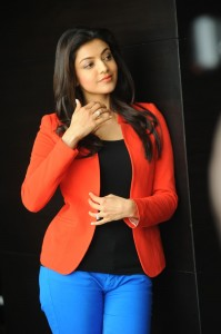 Kajal Agarwal in Red Jacket