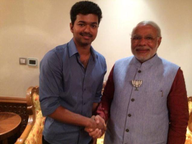 Vijay-at-Modi-Swearin-Ceremony
