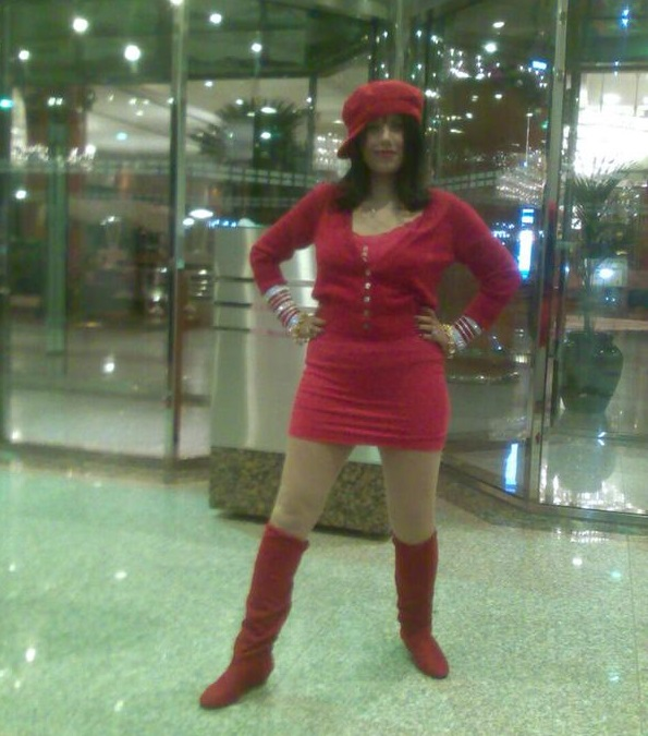 Radhe Maa Red Hot Avatar in Mini Skirt