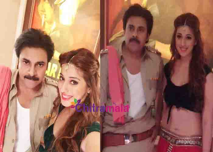 Lakshmi Rai and Pawan Kalyan