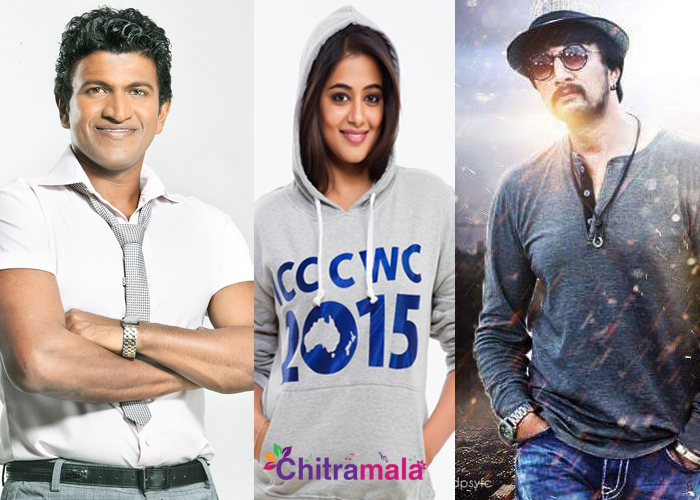 Puneeth, Priyamani and Sudeep in Forbes Magazine