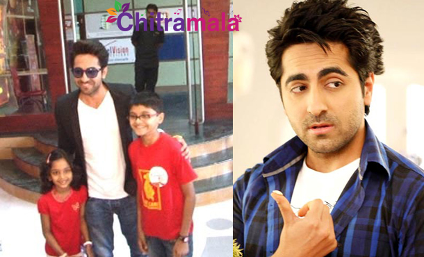 Ayushmann Khurana With His Kids