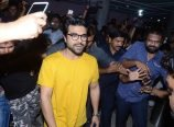 Ram Charan watches Rangasthalam theater
