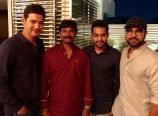 Jr NTR Ram Charan Mahesh at a party