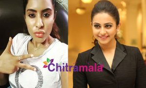 Sri Reddy and Rakul Preet Singh