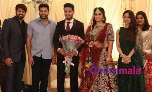 Arya Brother Sathya Wedding Reception