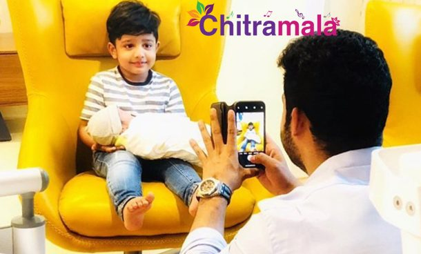 Jr NTR with his sons
