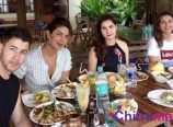 Priyanka Chopra and Nick Jonas at Goa