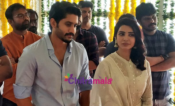 Samantha and Naga Chaitanya Movie Launch